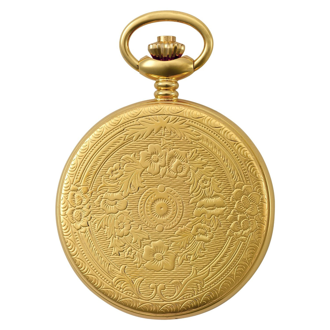 Gotham Men's Gold-Tone 17 Jewel Mechanical Covered Pocket Watch # GWC14036G - Gotham Watch