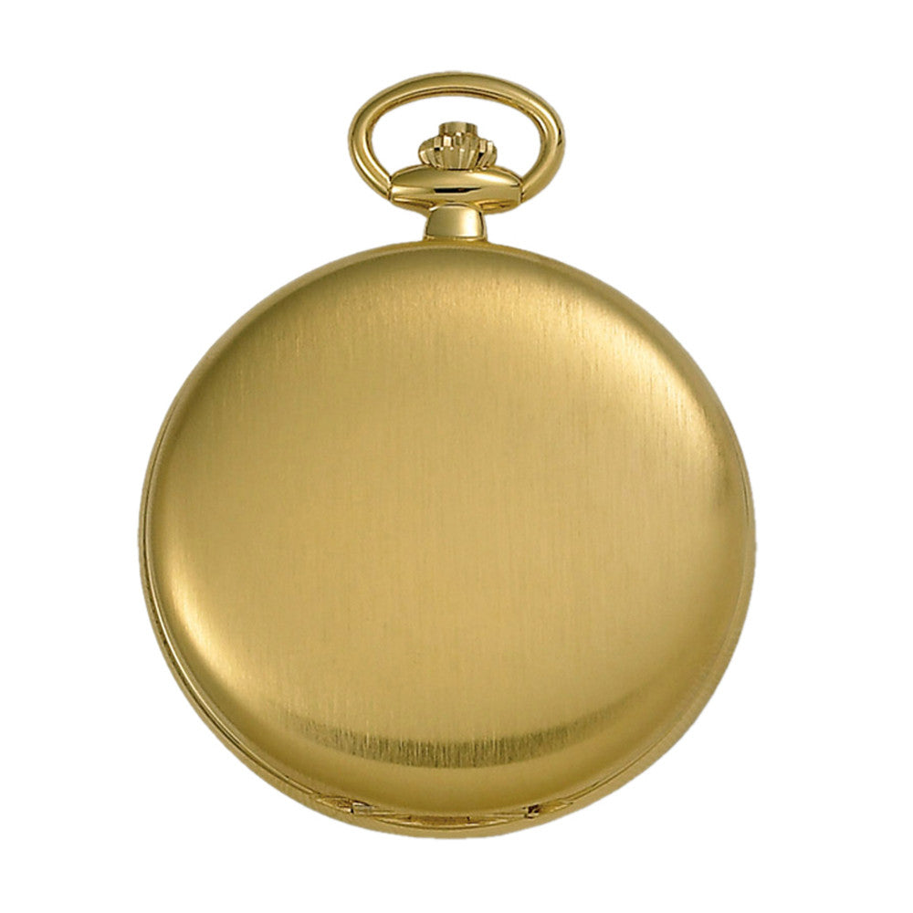 Gotham Men's Gold-Tone Satin Finish 17 Jewel Mechanical Pocket Watch # GWC14037GA