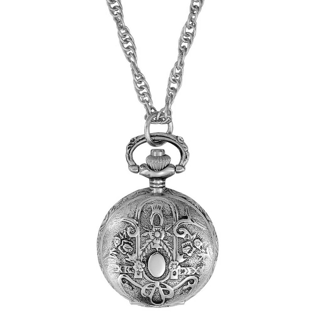 Gotham Women's Antique Design Silver-Tone Quartz Fashion Pendant Watch # GWC14119S - Gotham Watch
