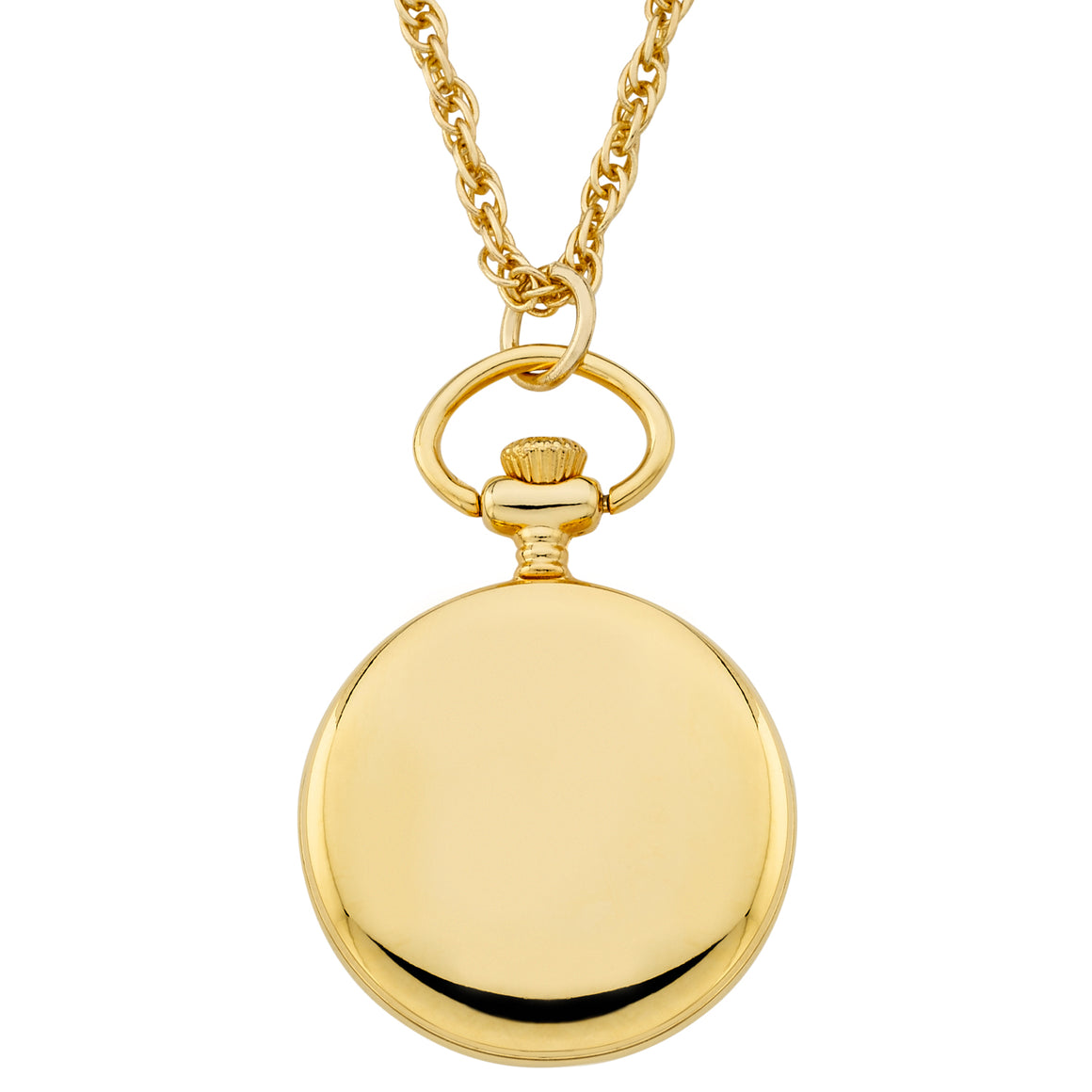 Gotham Women's Gold-Tone Open Face Pendant Watch with Chain # GWC14140GA