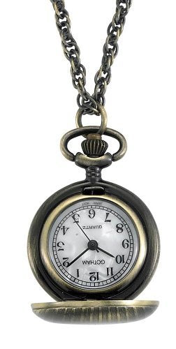 Gotham Women's Antique Etched Style Bronze-Tone Quartz Fashion Pendant Watch # GWC14336A
