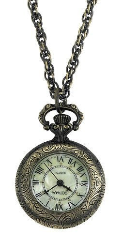 Gotham Women's Antique Style Bronze-Tone Quartz Fashion Pendant Watch # GWC14331A - Gotham Watch