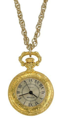 Gotham Women's Antique Style Gold-Tone Quartz Fashion Pendant Watch # GWC14331GC - Gotham Watch