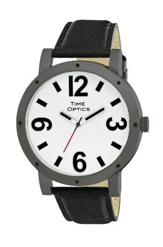 TimeOptics Unisex Fashion Jumbo Low Vision Leather Strap Watch # GWC403 - Gotham Watch
