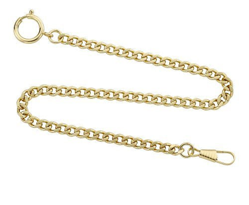 "Gotham Gold-Tone Pocket Watch Chain Fob Curb Link 14"" # GWCGTLCHAIN - Gotham Watch"