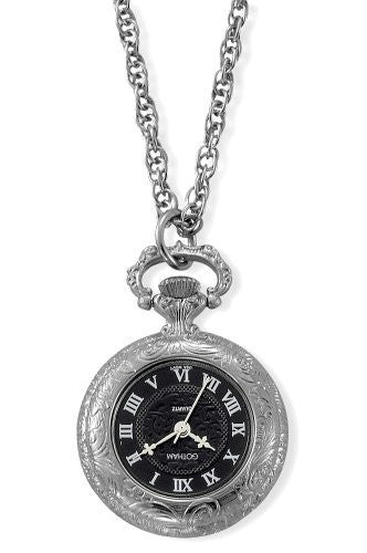 Gotham Women's Antique Style Silver-Tone Quartz Fashion Pendant Watch # GWC14332SB - Gotham Watch