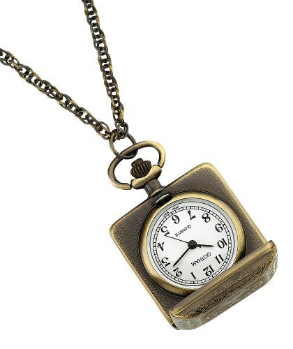 Gotham Women's Antique Gold-Tone Square Quartz Fashion Pendant Watch # GWC14121A - Gotham Watch