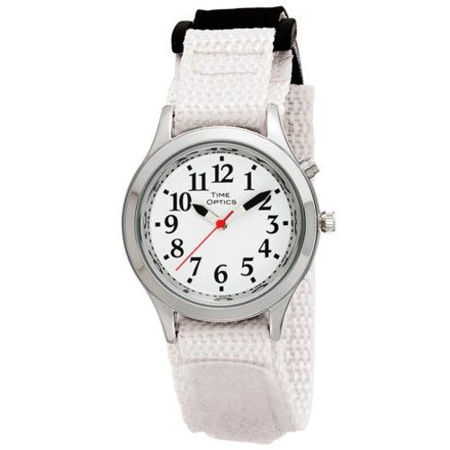 TimeOptics Women's Talking Silver-Tone Day Date Alarm Fast Wrap Strap Watch # GWC113 - Gotham Watch