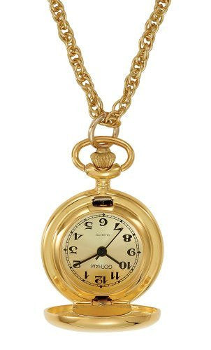 Gotham Women's Polished Gold-Tone Quartz Fashion Pendant Watch # GWC14132GC - Gotham Watch
