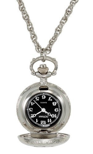 Gotham Women's Antique Design Silver-Tone Quartz Fashion Pendant Watch # GWC14118SB