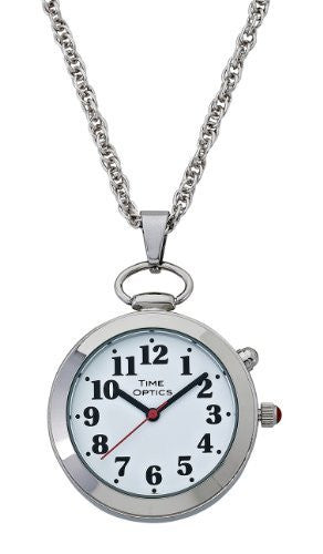 TimeOptics Women's Talking Silver-Tone Pendant Day-Date Alarm Watch # GWC300S - Gotham Watch
