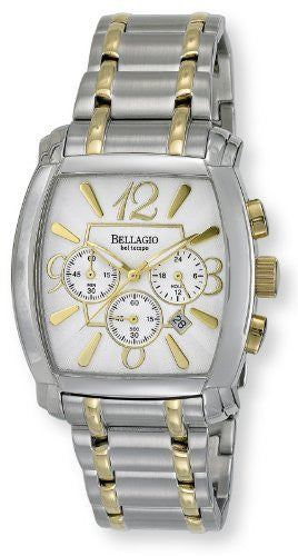Bellagio Mens Stainless Steel Chronograph Date Bracelet Watch # GWC12042-3S - Gotham Watch