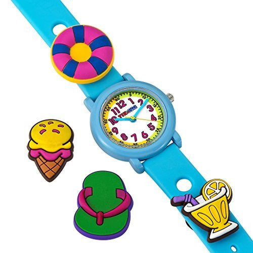 Tik & Tag Kid's Time Teacher Beach Theme Interchangeable Analog Quartz Watch Set # GWC703