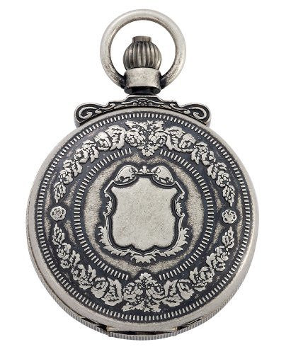 Gotham Men's Antique Silver-Tone Double Cover Exhibition Mechanical Pocket Watch # GWC14063S - Gotham Watch