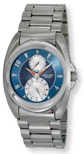 Bellagio Mens All Stainless Steel Multi-Function Sub-Dial Day/Date Bracelet Watch # GWC12024-2S - Gotham Watch