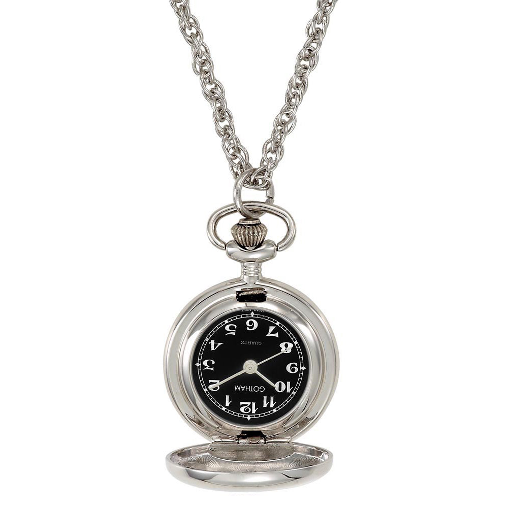 Gotham Women's Polished Silver-Tone Quartz Fashion Pendant Watch # GWC14132SB - Gotham Watch