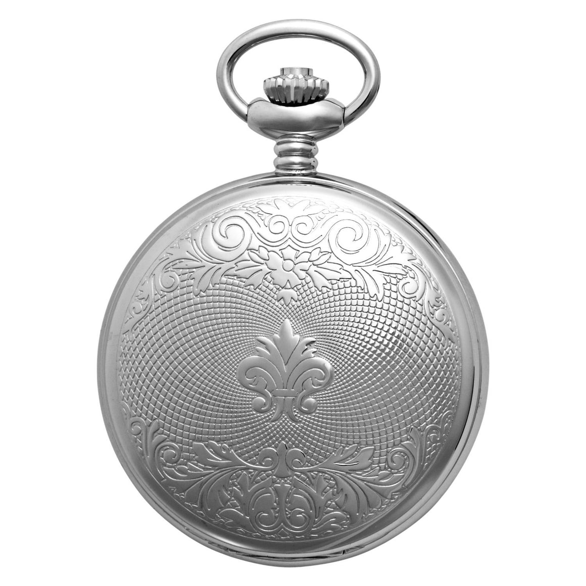 Gotham Men's Silver-Tone Mechanical Pocket Watch with Desktop Stand # GWC14040SBG-ST
