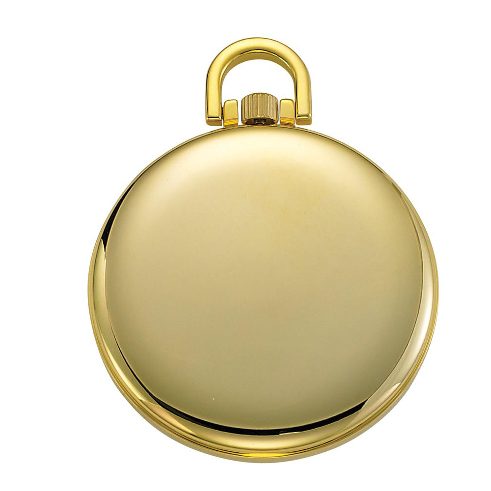 Gotham Men's Gold-Tone Slim Bold Number Open Face Quartz Pocket Watch # GWC15033G - Gotham Watch