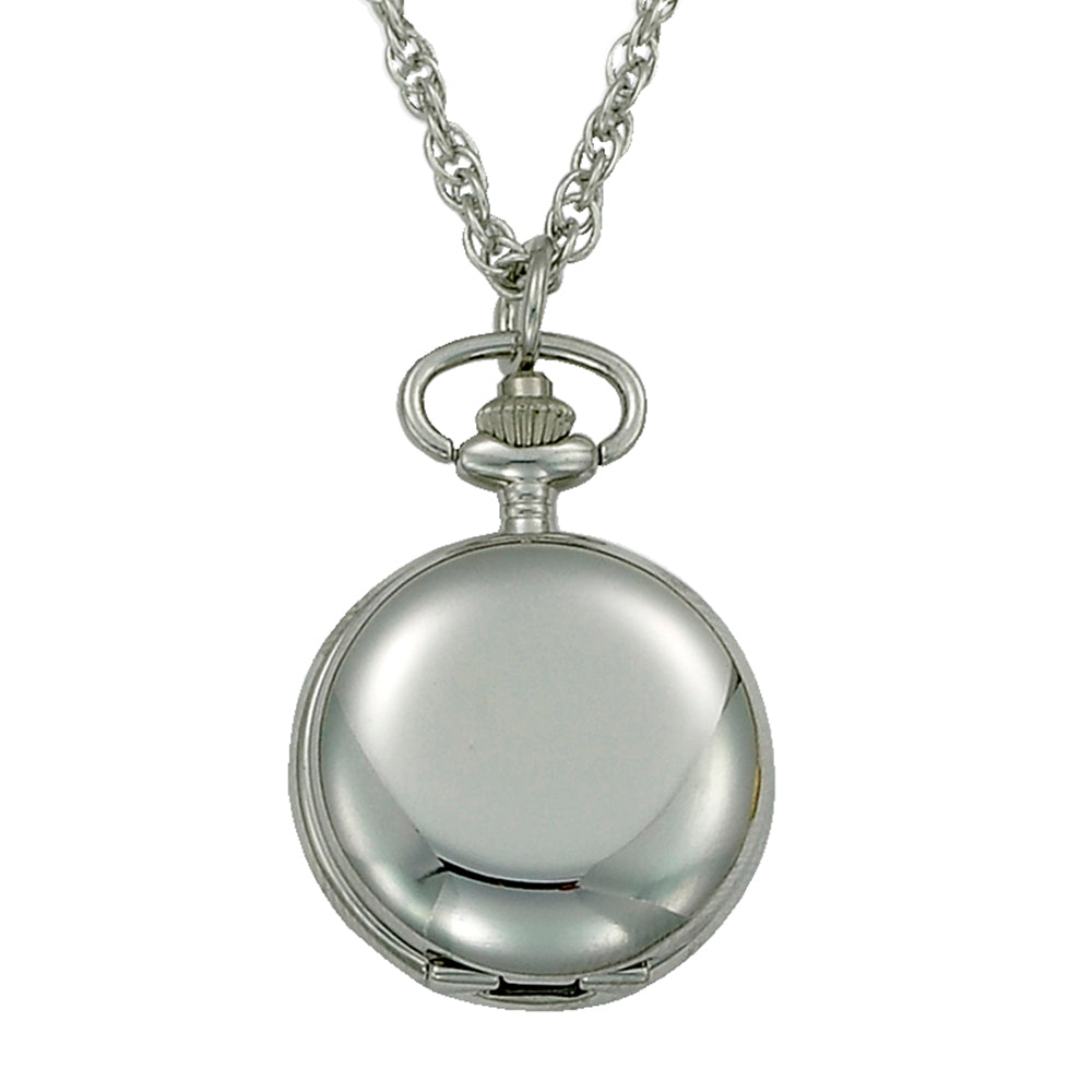 Gotham Women's Polished Silver-Tone Quartz Fashion Pendant Watch # GWC14132S - Gotham Watch