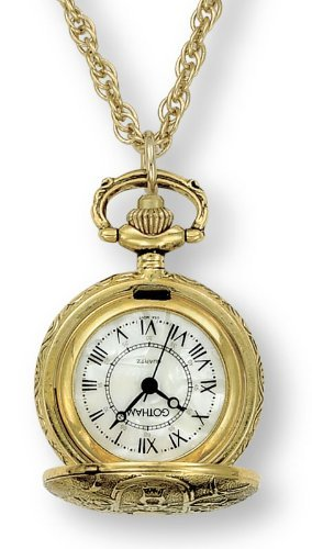 Gotham Women's Antique Design Gold-Tone Quartz Fashion Pendant Watch # GWC14119G - Gotham Watch