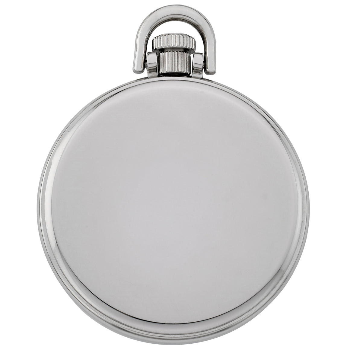 Gotham Men's Stainless Steel Mechanical Hand Wind Railroad Style Pocket Watch # GWC14108SB - Gotham Watch