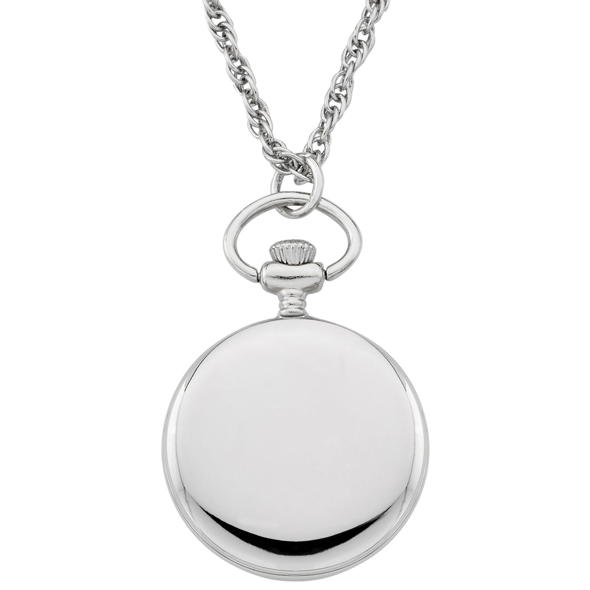 Gotham Women's Silver-Tone Open Face Pendant Watch With Chain # GWC14135SBA - Gotham Watch