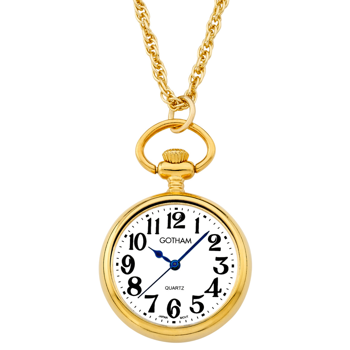Gotham Women's Gold-Tone Open Face Pendant Watch With Chain # GWC14135GA - Gotham Watch