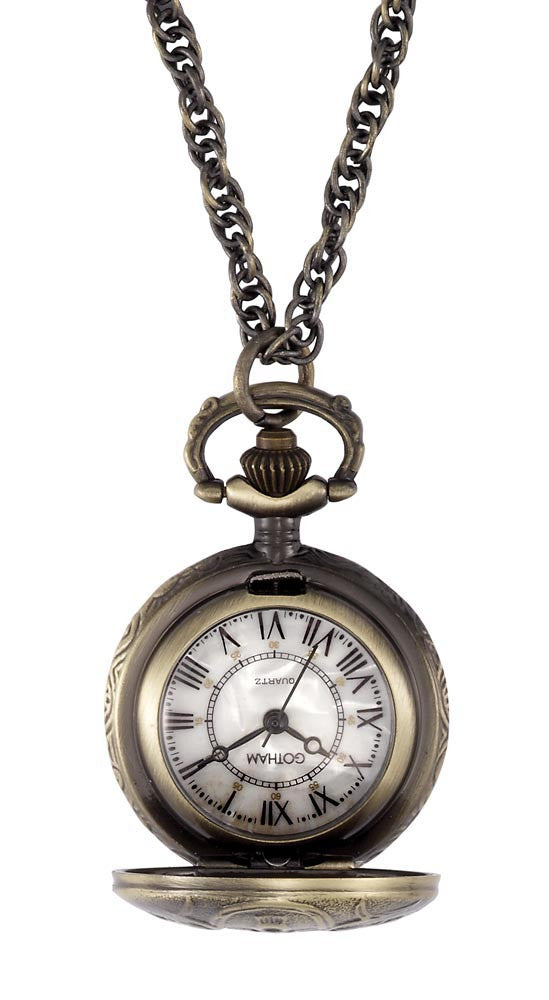 Gotham Women's Antique Design Bronze-Tone Quartz Fashion Pendant Watch # GWC14119A