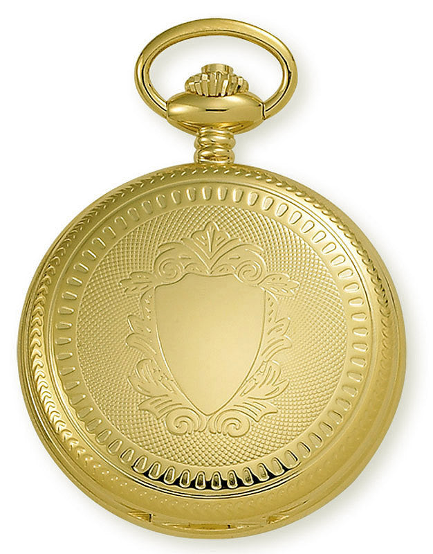 Gotham Men's Gold-Tone Mechanical Pocket Watch with Desktop Stand # GWC14035G-ST