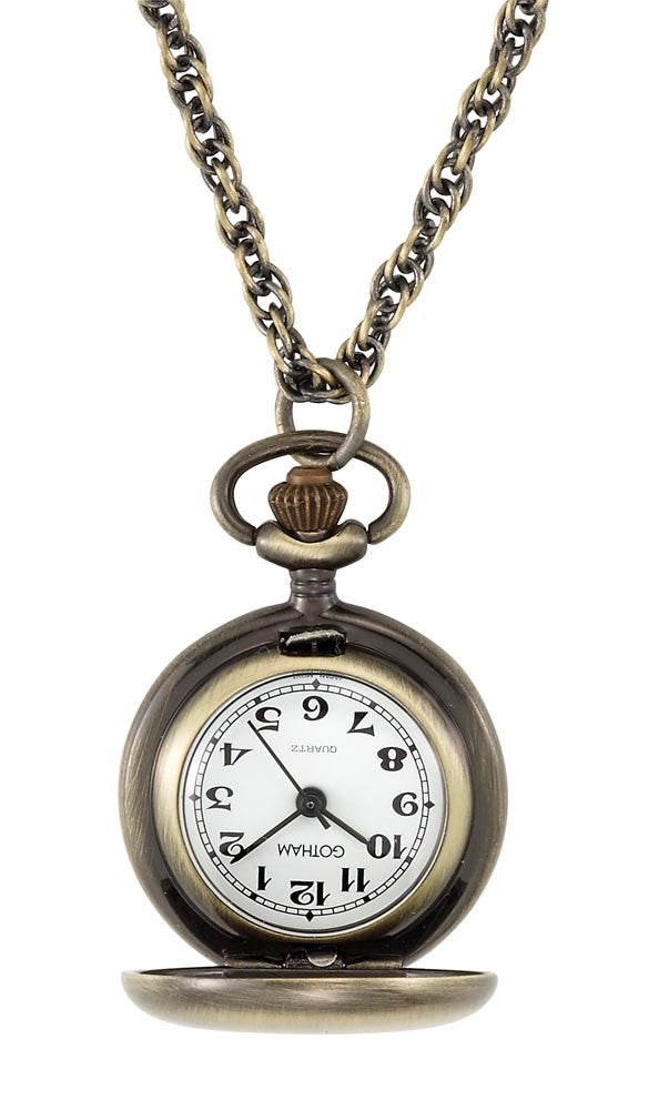 Gotham Women's Satin Finish Bronze-Tone Quartz Fashion Pendant Watch # GWC14133A - Gotham Watch