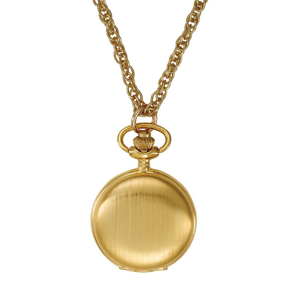 Gotham Women's Satin Finish Gold-Tone Quartz Fashion Pendant Watch # GWC14133GC - Gotham Watch