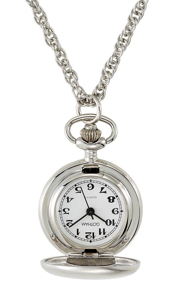 Gotham Women's Satin Finish Silver-Tone Quartz Fashion Pendant Watch # GWC14133S - Gotham Watch
