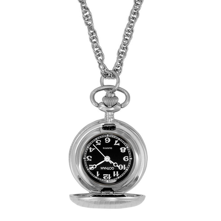 Gotham Women's Classic Etched Style Silver-Tone Quartz Fashion Pendant Watch # GWC14336SB - Gotham Watch