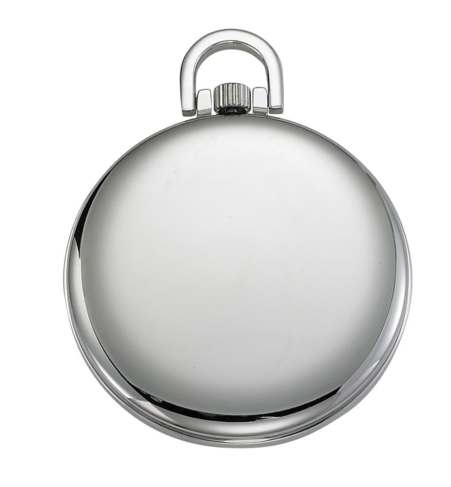 Gotham Men's Silver-Tone Railroad Open Face Quartz Pocket Watch # GWC15026S - Gotham Watch