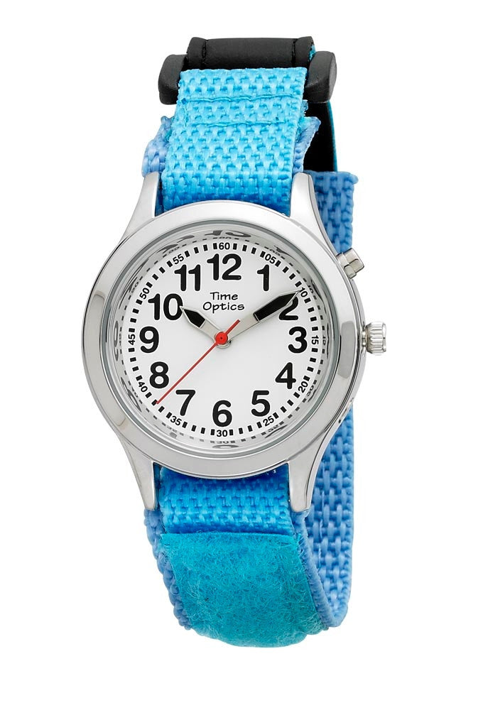 TimeOptics Girls Talking Silver-Tone Day Date Alarm Fast Wrap Strap Watch # GWC301 - Gotham Watch