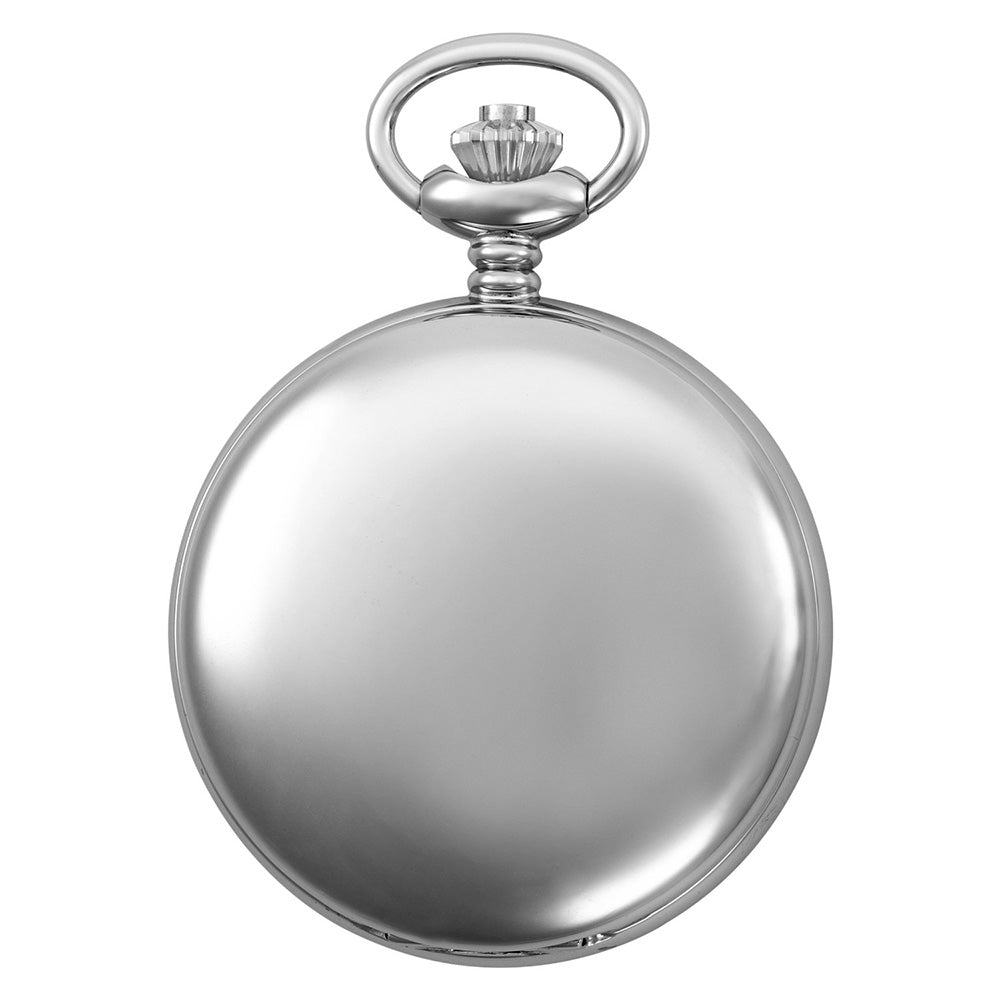 Gotham Men's Silver-Tone Polished Finish Covered Quartz Pocket Watch # GWC15042SP
