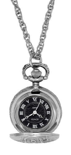 Gotham Women's Antique Design Silver-Tone Quartz Fashion Pendant Watch # GWC14119SB