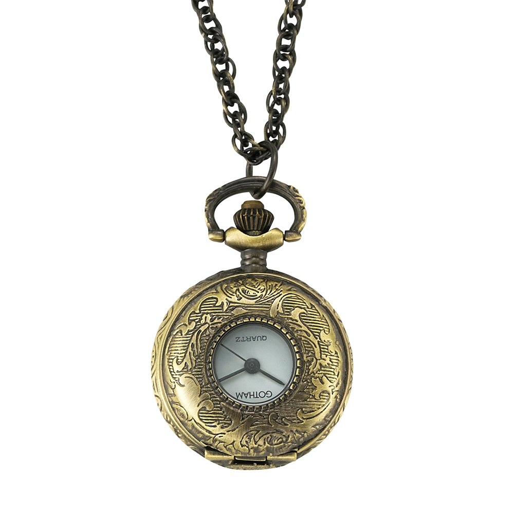 Gotham Women's Antique Gold-Tone Quartz Fashion Pendant Watch # GWC14120A - Gotham Watch