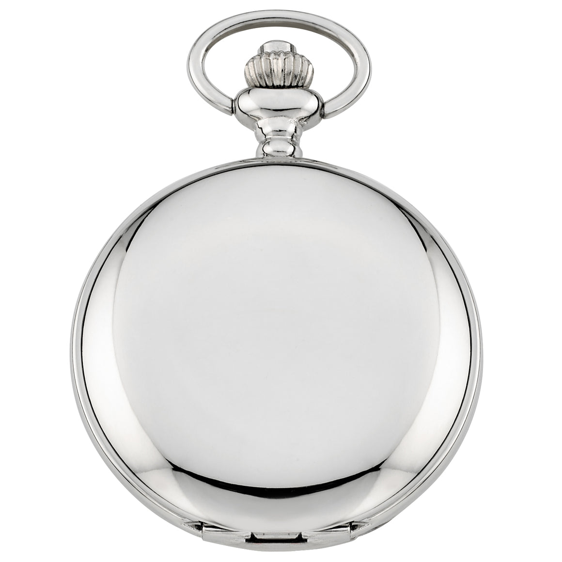 Gotham Men's Silver-Tone Railroad Polished Finish Covered Quartz Pocket Watch # GWC15044SB - Gotham Watch