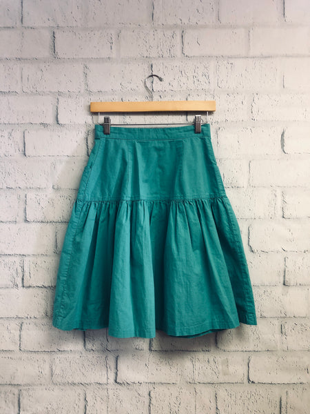 Teal Pocket Vintage Skirt