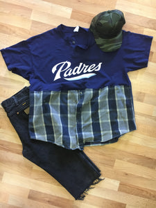 Flipped Tee: Padres Flannel