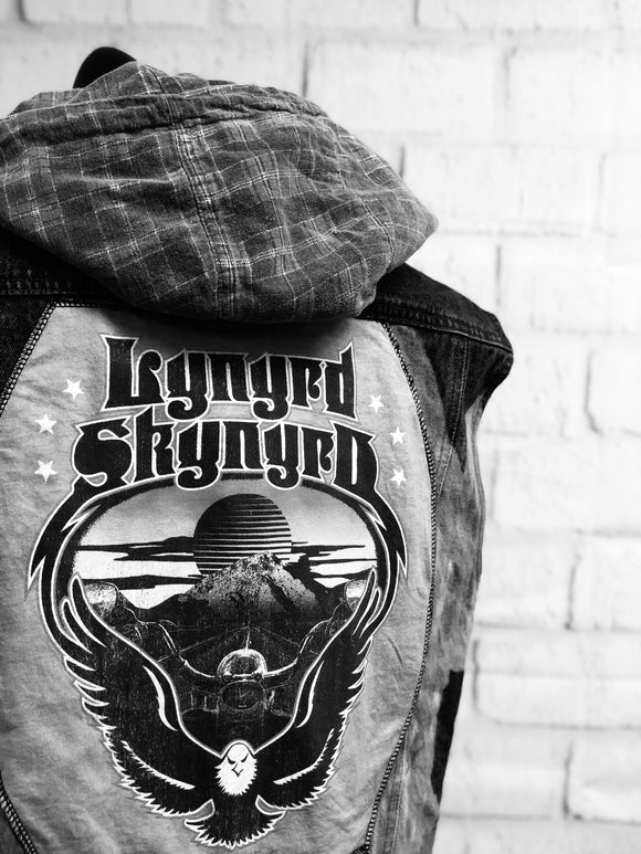 Vest : Reworked - Hooded Denim - Lynyrd Skynyrd