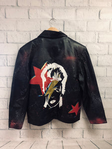 Leather Painted Jacket - David Bowie