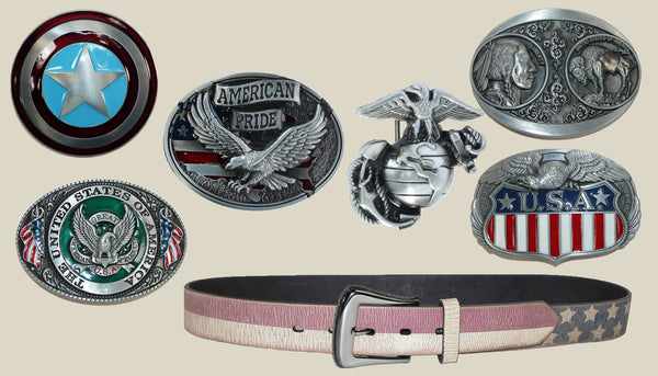 Independence Day 4th of July Belt Buckles