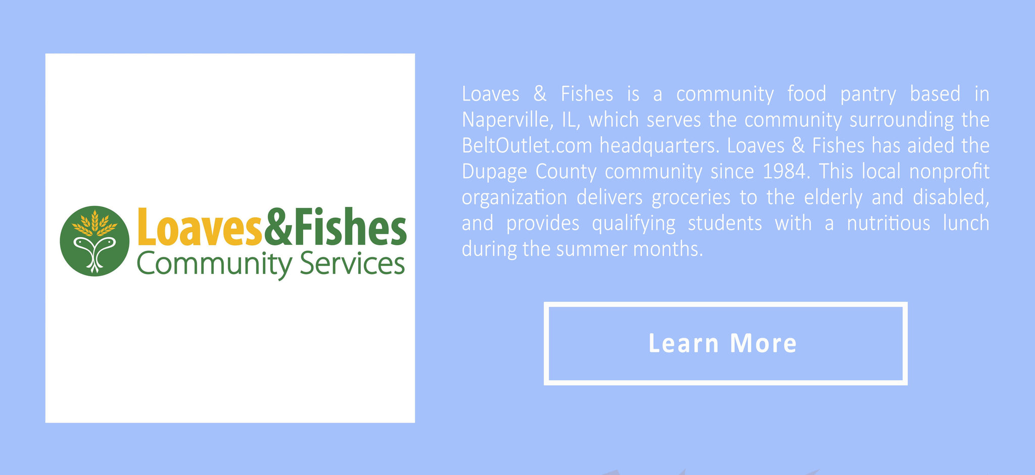 Loaves&fishes naperville logo and description