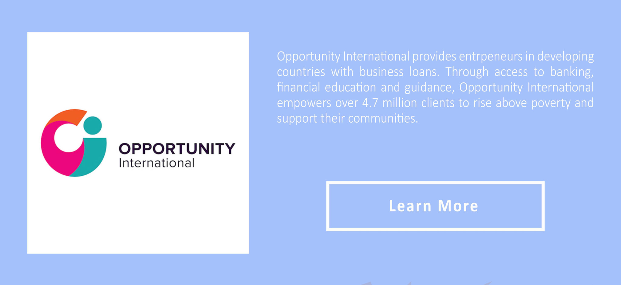 Opportunity international logo and description