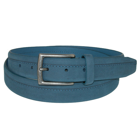 Men's Big & Tall Nubuck Off Center Stitch Casual Belt