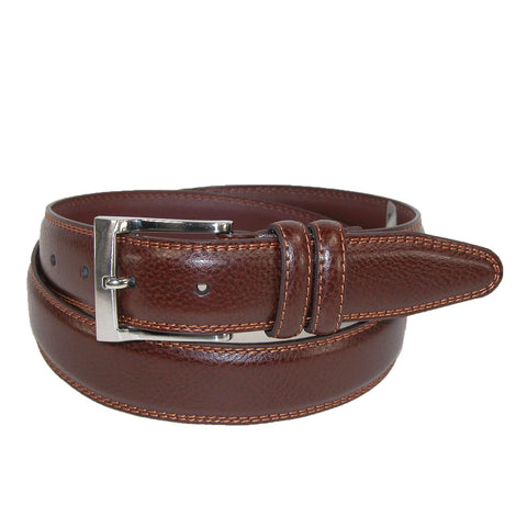 Men's Big & Tall Pebble Grain with Feather Edge Dress Belt