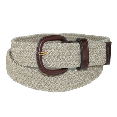 Men's Elastic Stretch Belt with Covered Buckle (Big & Tall Available)