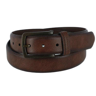 Men's Pin Dot Feather Edge Dress Belt
